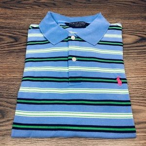 Polo Ralph Lauren Blue Stripe Polo Shirt L